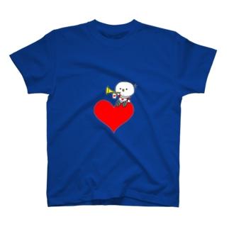 ハートのタローTシャツ T-shirts