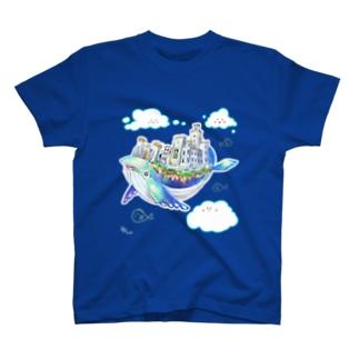 天空の城クジーラとゆるい仲間たち T-shirts