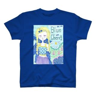 Blue cherry T-shirts