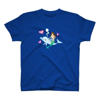 イルカに乗るマーメイド♪ T-shirts