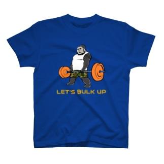 デッドリフトゴリラ紺 T-shirts
