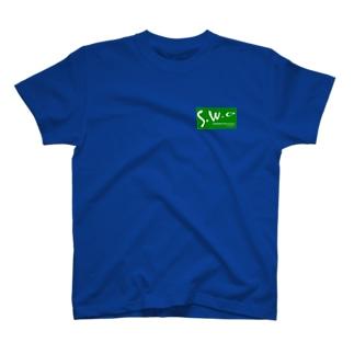 緑フル&白ロゴ T-shirts