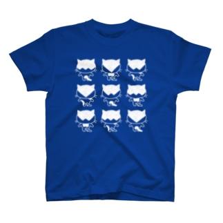 猫ねむりzzz..のハチワレ猫三昧 T-shirts