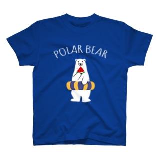 シロクマとスイカと浮き輪 T-Shirt