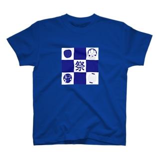 祭りグリッド T-shirts