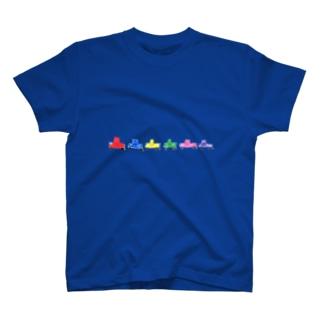 カラフル自動車 T-shirts