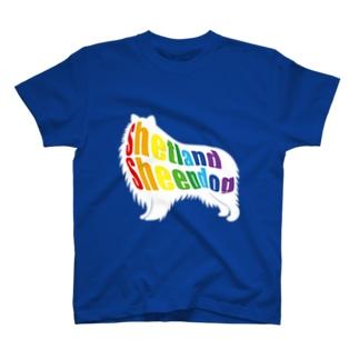 Shetland Sheepdog rainbow T-shirts