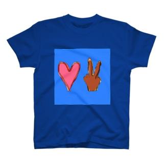 ラブアンドピース T-shirts