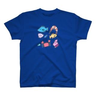 うみのさち濃色 T-shirts