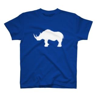 サイ_WHITE T-shirts