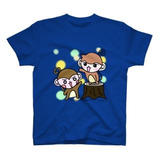 やんちゃなおサル&関西弁さる「なかよし(水玉)」 T-shirts