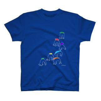 お魚ブリッジ競争 T-shirts