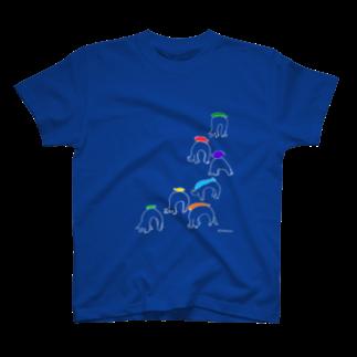 むきむき   地球生活のお魚ブリッジ競争 T-shirts