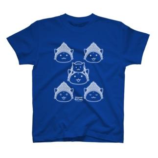 仏にゃんs(白線) T-shirts
