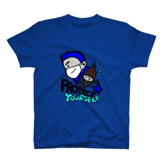 Protect Yourself (ブルー) T-shirts