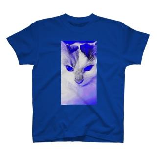 サイボーグ・フワフワ(ブルー) T-shirts