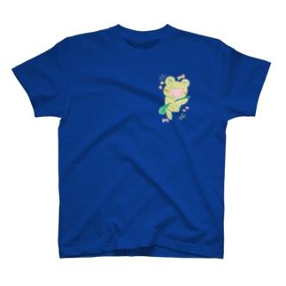 やんわり店舗(アリサ)のダンシングあめかえる T-Shirt