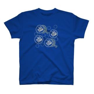 キンカチョウと風車 T-shirts