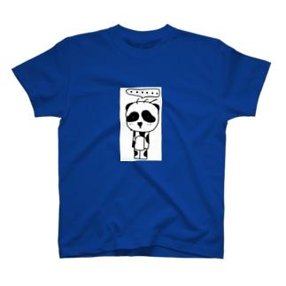立ち止まりパンダ(ソロ) T-shirts