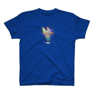 夜パフェ忍ばせTシャツ T-shirts