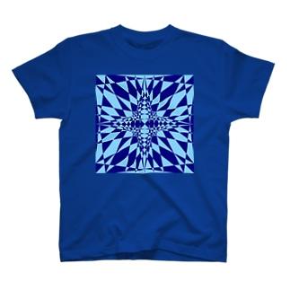 模様(青・水色) T-shirts