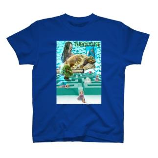 パワーストーン『ターコイズ』 T-shirts