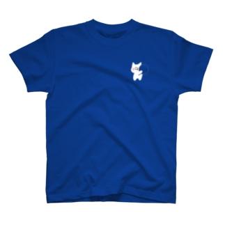 素材の色を楽しむぷりねこちゃん T-Shirt