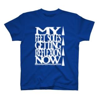 あしたのあしサポート(シロ) T-shirts