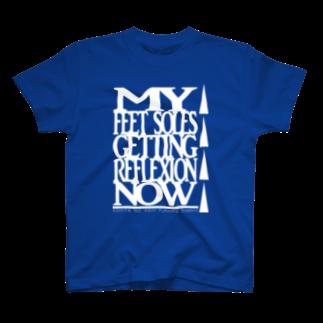 山口足太郎(訪問足解士)のあしたのあしサポート(シロ) T-shirts