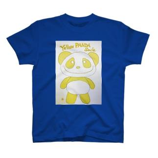 イエローパンダスマイル T-shirts