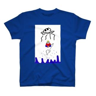 週末には帰れるそうです。 T-shirts