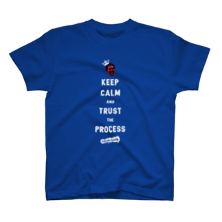 TRUST THE PROCESS -white- T-shirts
