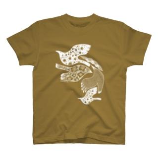 トリドリ白 Tシャツ