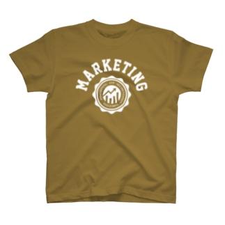 マーケティング(白) T-shirts