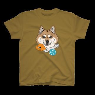 ヤマノナガメの犬と宝物 T-shirts