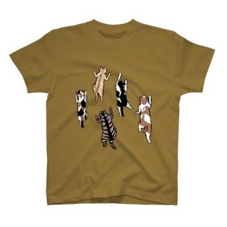 よじのぼりにゃんこ T-shirts
