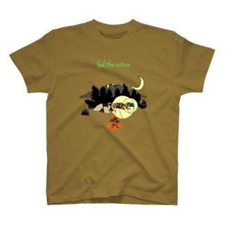 大自然妄想キャンプ T-shirts