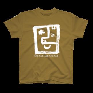 〈サチコヤマサキ〉ショップのKAOロゴ白 T-shirts