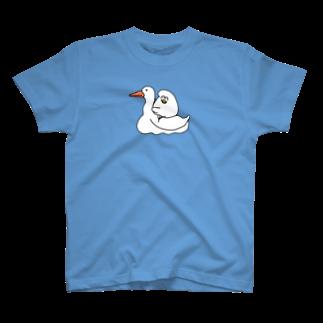 mugny shopのアヒルでなくガチョウ Tシャツ