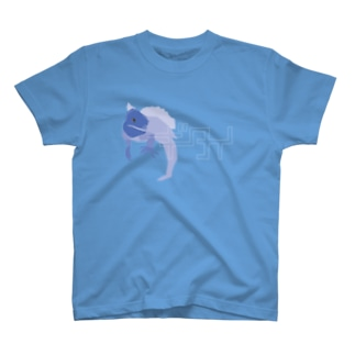 ギタイ_blue Tシャツ
