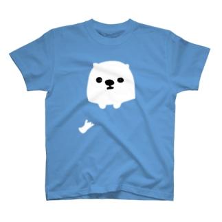 犬ポッケ穴あき Tシャツ