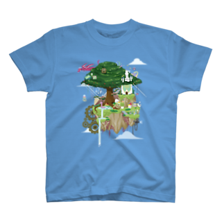 nuwtonのヌートンドット絵(カラー)Tシャツ