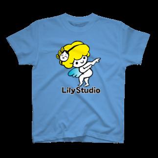 LILY STUDIOの招福の舞チーズ天使 T-shirts