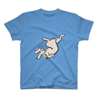 鳥獣ウサギ画 T-shirts