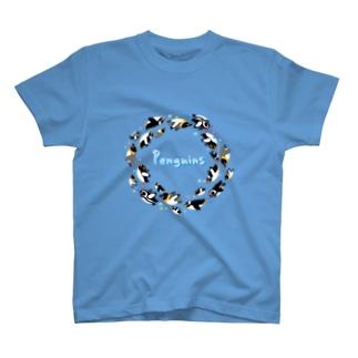 ペンギン達の輪 T-shirts