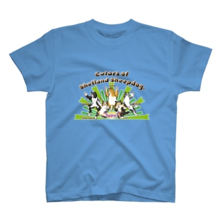 Colors of Shetland sheepdog 日本語ロゴVer. T-shirts