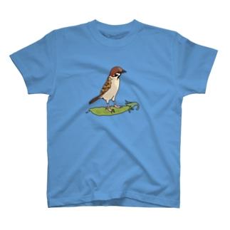 スズメとエンドウ豆 T-shirts