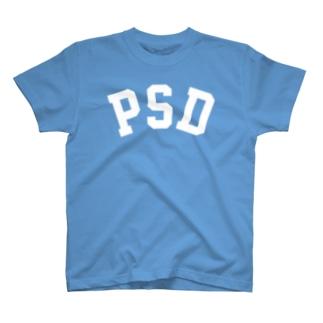 PSD(白) T-shirts