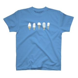アイスクリーム( しろ ) T-shirts