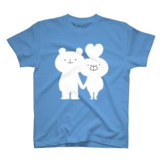 うさっくま ロゴTシャツ T-shirts
